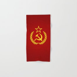 Hammer and Sickle Textured Flag Hand & Bath Towel