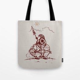 Nature Warriors: Battle Hedgehog Tote Bag