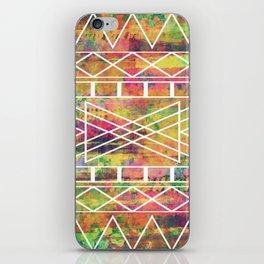 Aztec Andes Tribal, Geometric Shapes Pattern, Itaya iPhone Skin
