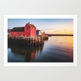 Motif #1 - Rockport MA Little Red Shack at Sunrise Art Print