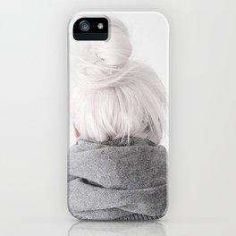 grey hair iPhone Case