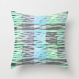 Wavy light green Throw Pillow