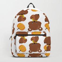 Pattern Of Cute Bears, Pumpkins, Fall Animals Backpack