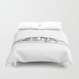 Darwin Martin House in Black & White Duvet Cover