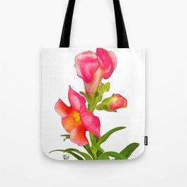 Pink Snapdragon Tote Bag
