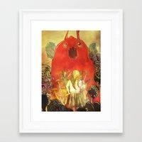 nightmare Framed Art Prints featuring nightmare by Oscar Civit
