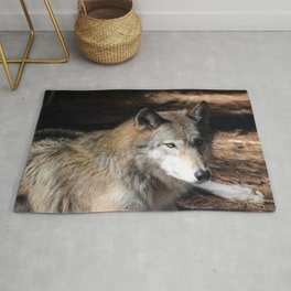 The Eyes of a Wolf Rug