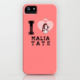 I Heart Malia Tate iPhone Case