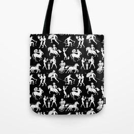 Greek Figures // Black Tote Bag