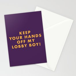 The Grand Budapest - Keep your hands off my lobby boy! Stationery Cards