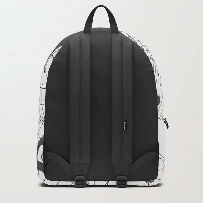 New York City White on Gray Street Map Backpack