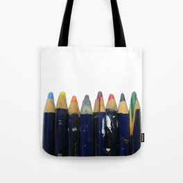 Old pencils in a row Tote Bag