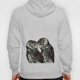 Burrowing Owls in love Hoody