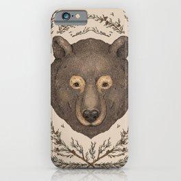 The Bear and Cedar iPhone Case