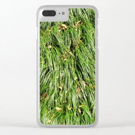 Kowloon Grass Clear iPhone Case