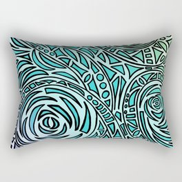 How The River Flows - Faded Rectangular Pillow