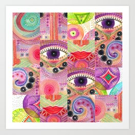 colorful words of a poem Art Print