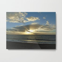 Sunset over Aber Metal Print