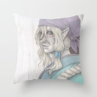 medicine Throw Pillows featuring Medicine Seller by yuutew