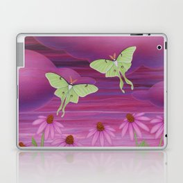 echinacea daydream with luna moths and snails Laptop & iPad Skin