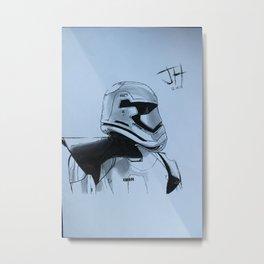 Stormtrooper Captain (Force Awakens) Metal Print