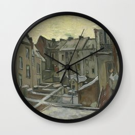 Houses Seen from the Back Wall Clock