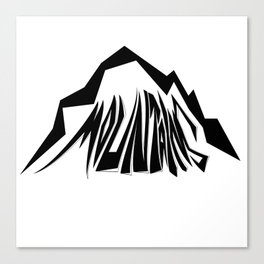 Mountains Oldschool Canvas Print