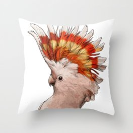 Pink Cockatoo Throw Pillow