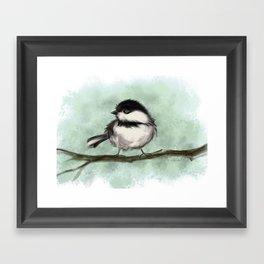 Chicka Chickadee Dee Framed Art Print