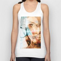 angelina jolie Tank Tops featuring faces of Angelina Jolie by Karma (Bhutangirl)