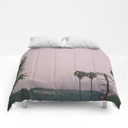 Rainy Hollywood - a rare sight Comforters