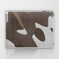 Brown and White abstract Laptop & iPad Skin