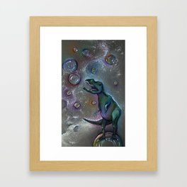 Space Bubbles Framed Art Print
