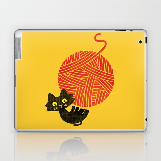 Fitz - Happiness (cat and yarn) Laptop & iPad Skin