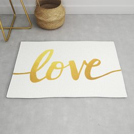 Love Gold Rug
