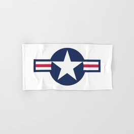 US Airforce style roundel star - High Quality image Hand & Bath Towel