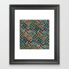 Abstract Tile Mosaic 2 Framed Art Print