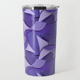 Ultra Violet Abstract Waves Travel Mug