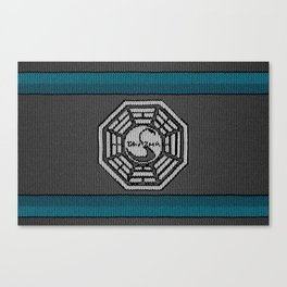 Dharma Logo from LOST - Knitted Version Canvas Print