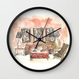 Vintage 90s Living Room Painting Wall Clock