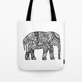 Black and white elephant Tote Bag