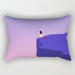 Cliff//Rose Rectangular Pillow