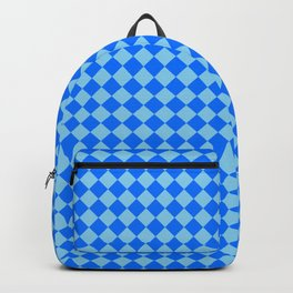 Baby Blue and Brandeis Blue Diamonds Backpack