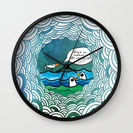 home is where the ocean is Wall Clock