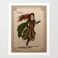 valar morghulis Art Prints featuring Nessa by wolfanita