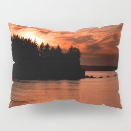 Red Sky At Night Photography Print Pillow Sham