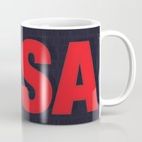 world cup Mugs featuring USA World Cup 2014 by TheColorK