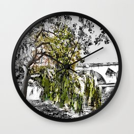 Paris - an der Seine Wall Clock