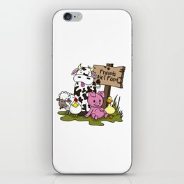 Friends Not Food Animal Rights Pig Cow present iPhone Skin