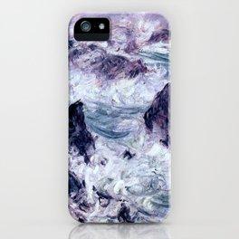 Monet : Storm At Belle Ile iPhone Case